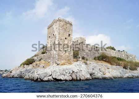 Castle of St. Peter in Bodrum, Turkey - stock photo