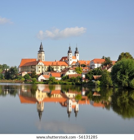 Castle of Telc, Czech republic - stock photo