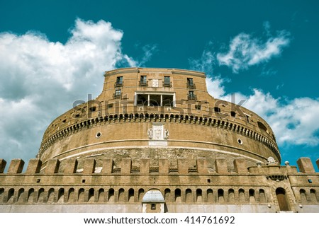 Castle of the Holy Angel (Castel Sant'Angelo), Rome, Italy - stock photo