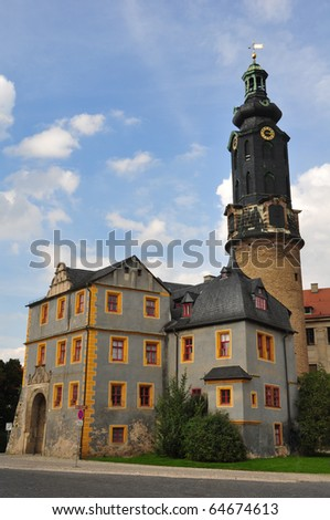 Castle of Weimar Germany - stock photo