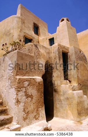 Castle on Santorini island, Greece - stock photo