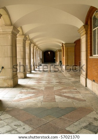 Castle passageway - stock photo