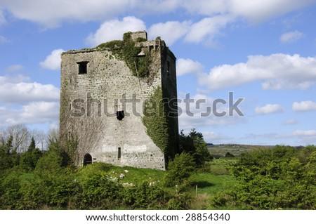 castle ruins - stock photo