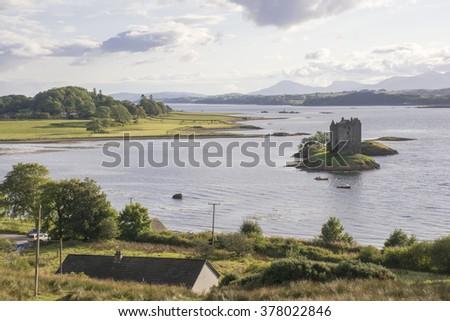 Castle Stalker, Appin, Scotland - stock photo