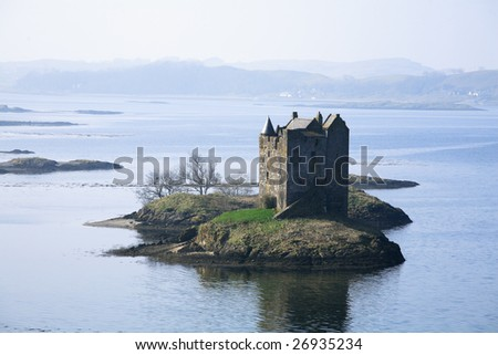 Castle Stalker, Argyll, Scotland - stock photo
