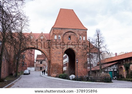 castle tower in Torun, Poland