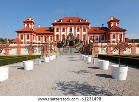 castle Troja in Prague, Bohemia - stock photo