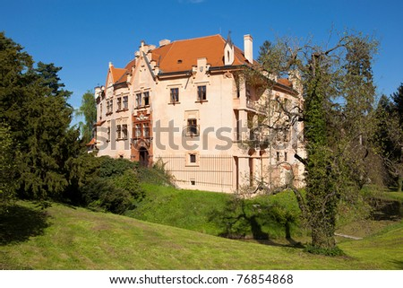 Castle Vrchotovy Janovice, Bohemia - stock photo