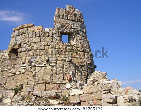 Castle wall - stock photo