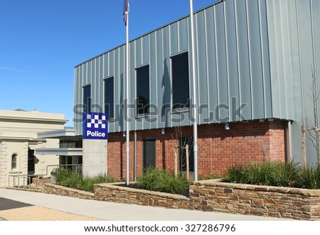 CASTLEMAINE. VICTORIA, AUSTRALIA - September 5, 2015: The 24-hour state government funded $12.8 million state-of-the-art Castlemaine police station became operational in October 2014