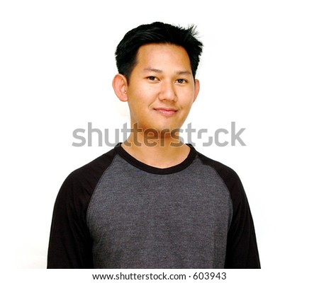 Casual - asian male - stock photo
