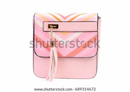 Casual Female Shoulder Bag Pink Colour Stock Photo Edit Now
