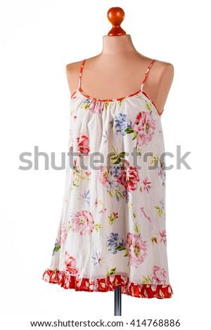 Traditional Female Fabric Cheongsam On Mannequin Stock ...