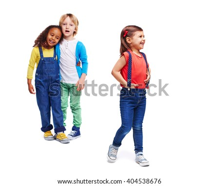 Casual kids - stock photo