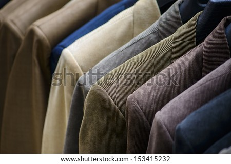 Casual Men Jackets at Men Fashion Store - stock photo