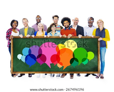 Casual People Message Talking Communication Concept - stock photo