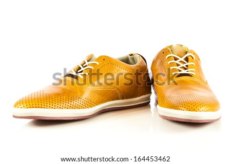 Casual shoes isolated on white background - stock photo