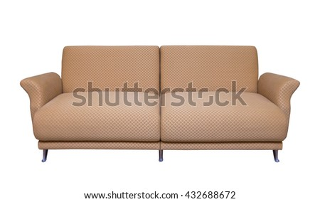 casual sofa in living room isolate on white background. - stock photo