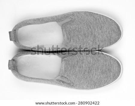 casual sport shoes closeup - stock photo