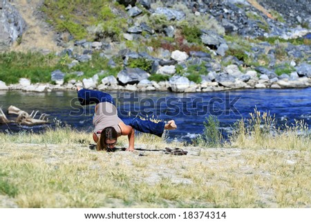 Casual Yoga - stock photo