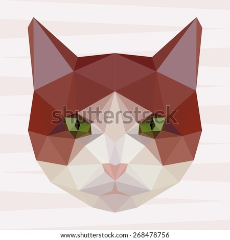 Cat. Abstract cat. Cat icon. Polygonal cat. Cat. Geometric cat. Cat portrait. Abstract cat. Cat. Graphic cat. Cat gaze. Cat icon. Isolated cat. Cat. Cat icon. Cat icon. Cat icon. Cat. Raster copy. - stock photo
