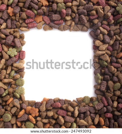 Cat food isolated on a white background - stock photo