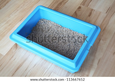 Cat litter box - stock photo