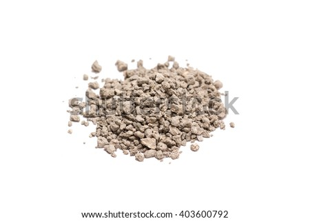 Cat litter. Isolated on white background. - stock photo