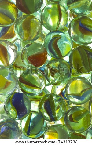 Cat's eye marbles - stock photo