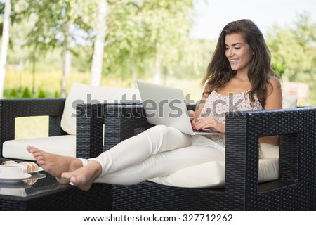 Catching up with the best friend - stock photo