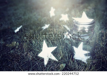 Catching wishes - stock photo