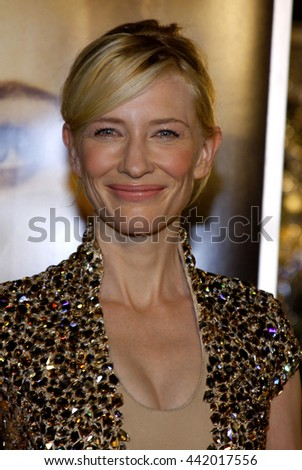Cate Blanchett at the Los Angeles premiere of 'The Curious Case of Benjamin Button' held at the Mann Village Theater in Westwood, USA on December 8, 2008. - stock photo