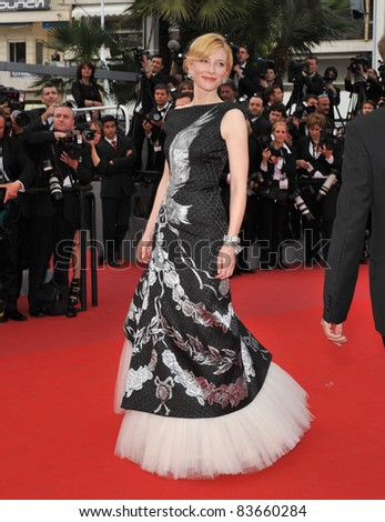 "Cate Blanchett  at the premiere of her movie ""Robin Hood"" the opening film at the 63rd Festival de Cannes. May 12, 2010  Cannes, France Picture: Paul Smith / Featureflash - stock photo"