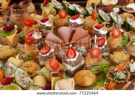 Catering buffet style - stock photo