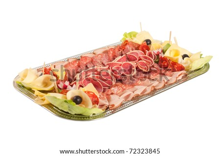 Catering food, isolated - stock photo