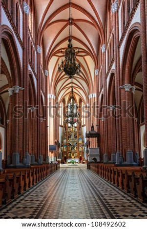 Cathedral Basilica of the Assumption of the Blessed Virgin Mary in Bialystok, Poland. - stock photo