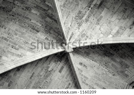 Cathedral Ceiling - stock photo