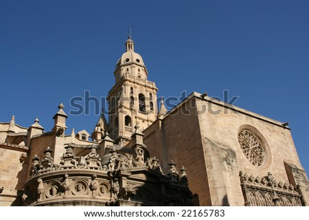 Cathedral Church of Saint Mary in Murcia. Gothic building.