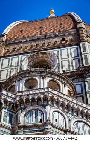 Cathedral Dome in Florence, Italy, in a Spring Day