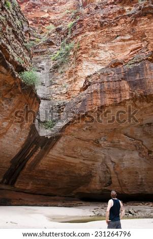 Cathedral Gorge - Purnululu National Park - Australia - stock photo