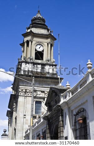 Cathedral in Guatemala City, Central America. - stock photo