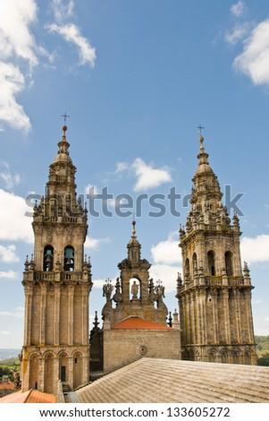 cathedral in Santiago de Compostela, Spain - stock photo