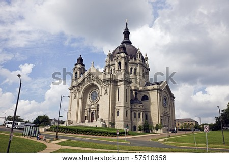 Cathedral in St. Paul, Minnesota, USA. - stock photo