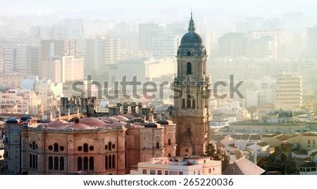 Cathedral Malaga, Malaga Province, Costa Del Sol, Spain - stock photo