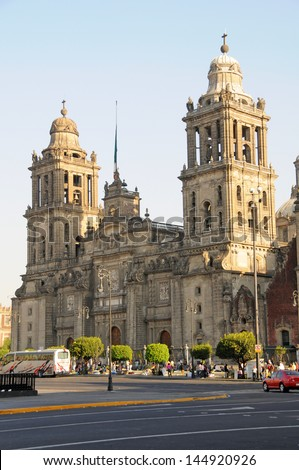 Cathedral Metropolitana and Metropolitan Tabernacle, Mexico City, Mexico. - stock photo