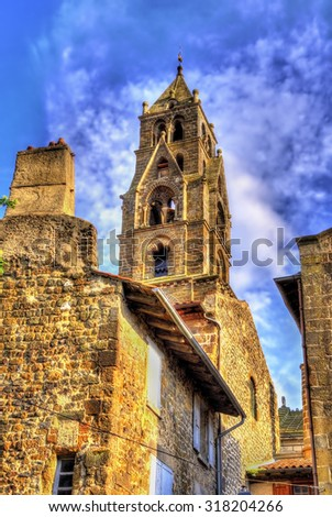 Cathedral Notre-Dame of Le Puy-en-Velay - Auvergne, France - stock photo