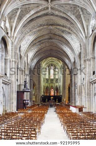 Cathedral of Bordeaux, France, UNESCO - the Pilgrim's Road to Santiago de Compostela - stock photo