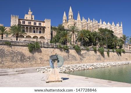 Cathedral of la Seu Majorca in Palma de Mallorca, Spain (Balearic Islands) - stock photo