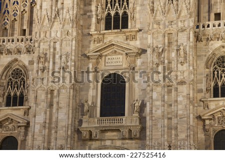 Cathedral of Milan at night, Lombardy, Italy - stock photo