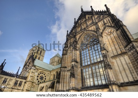 Cathedral of Munster in Germany - stock photo